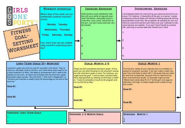 Motivation Board | Goal Setting Worksheet, Fitness Goals  Fitness Challenge Worksheet Pdf