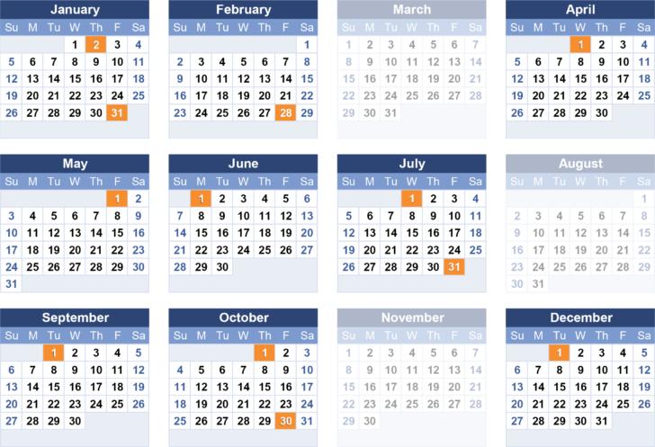 Payroll Calendar Printable For 2020  2021 Government Payroll Calendar