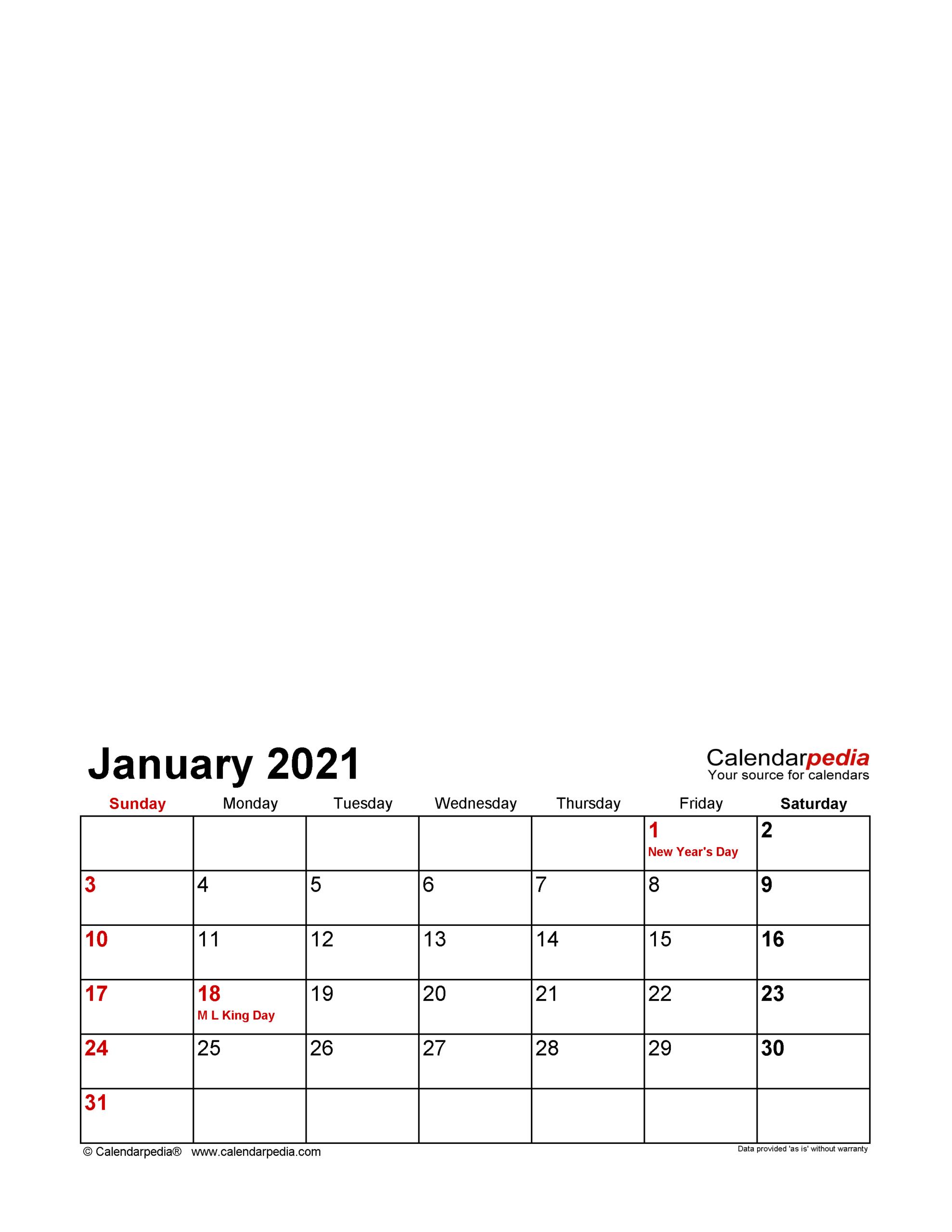 Photo Calendar 2021 - Free Printable Pdf Templates  Plain Monthly Planner Template Portrait 2021