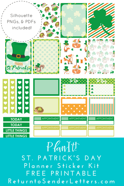 Planit! St. Patrick'S Day Kit - Free Printable Planner  Printable Planner Stickers Numbers 1 To 31