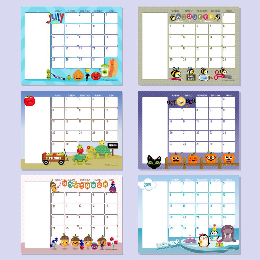 Preschool Calendar Templates - Emmamcintyrephotography  Calender Monthly Print Outs
