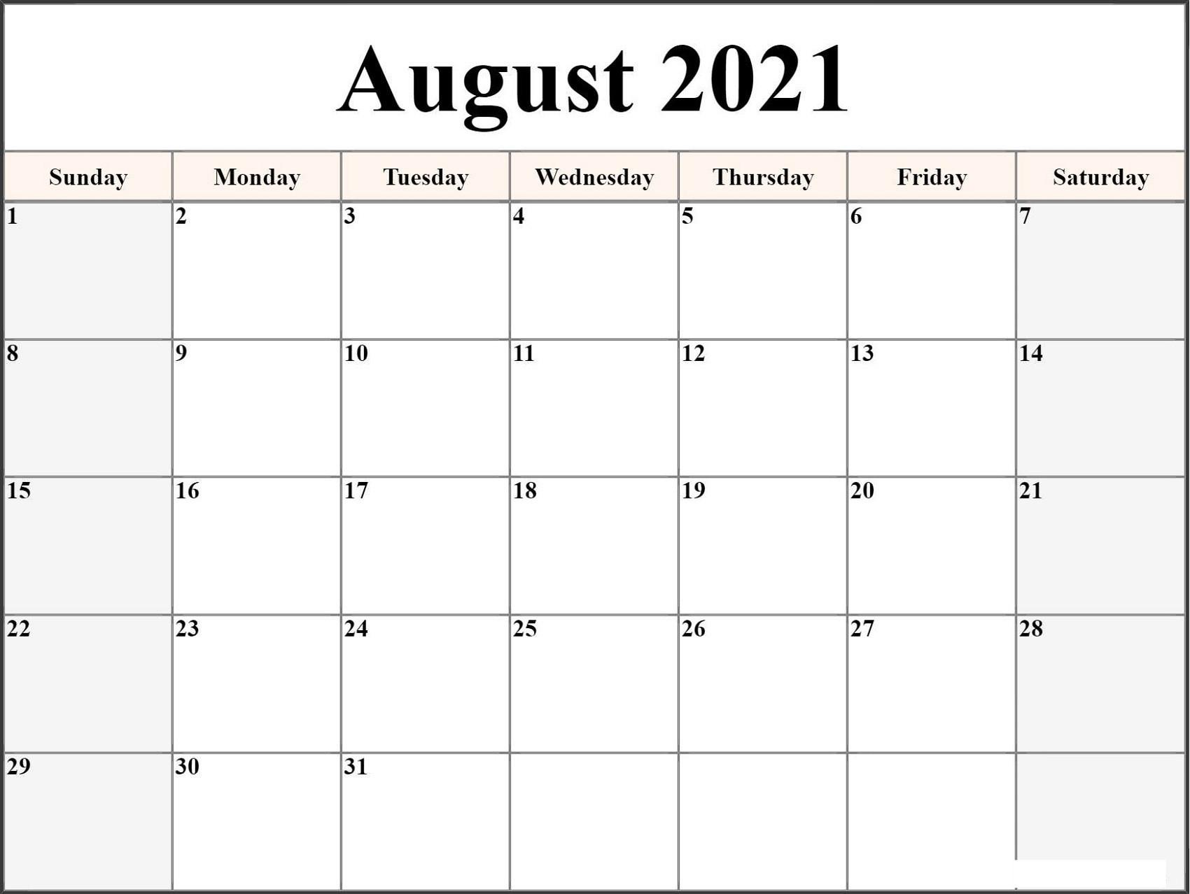 Print Calendar In Microsoft Word | Ten Free Printable  2021-21 Calendar Template Excel