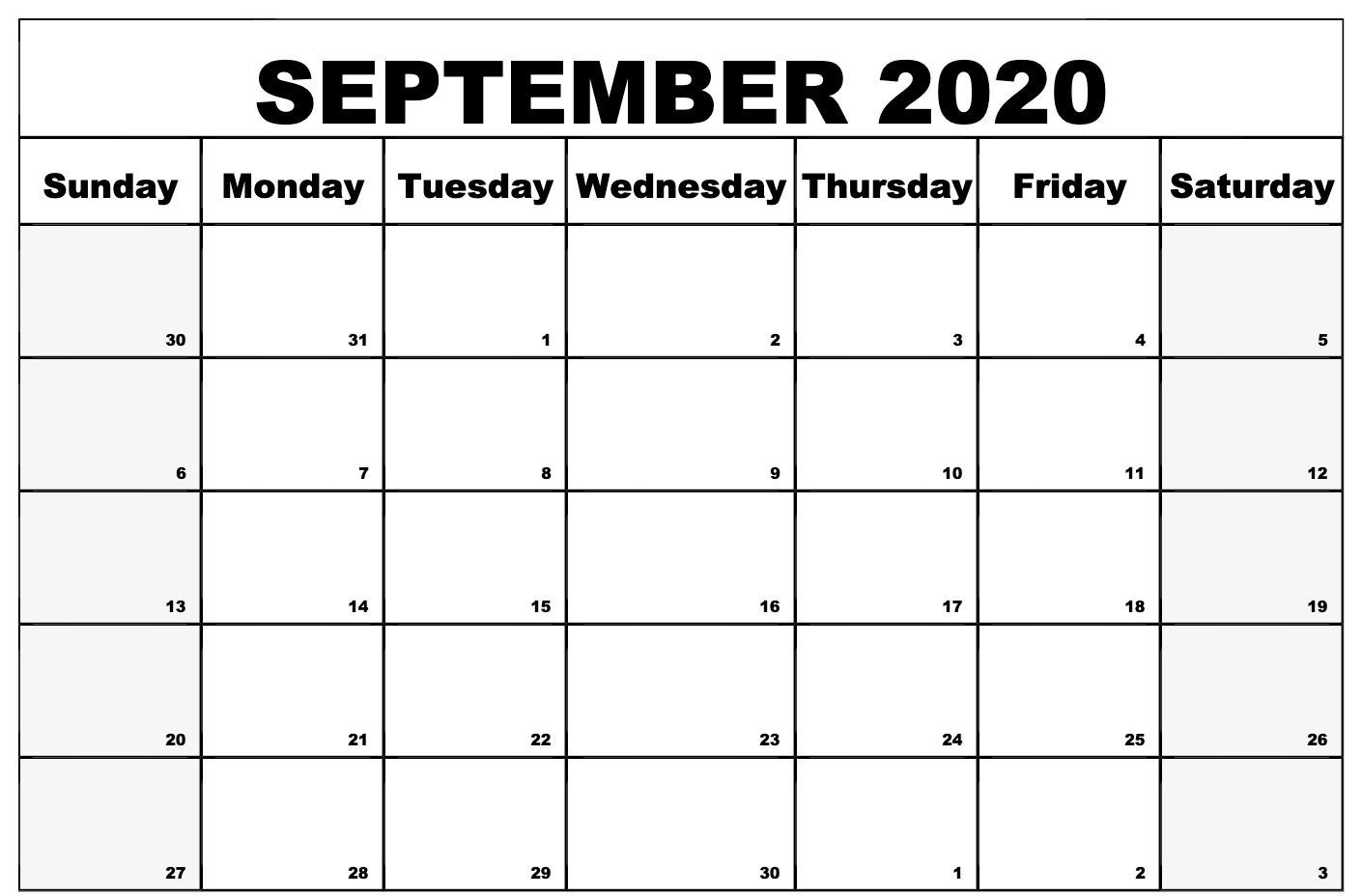 Print Free Monthly Calendars Without Downloading 2020  Free Printable Calendar Without Download