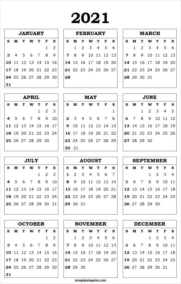 Printable Calendar 2021 A4 - 2021 Calendar Planner Printable  4 Months Per Page Calendar 2021 Printable