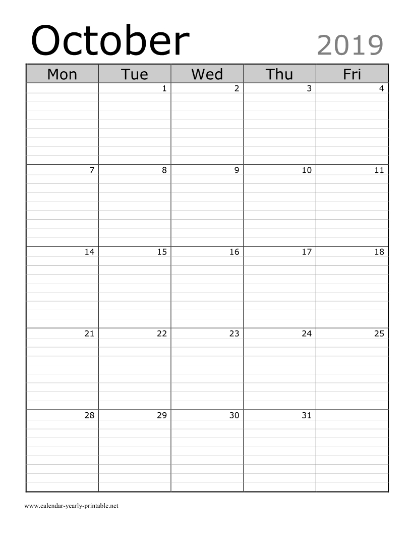 Printable Calendars With Lines | Ten Free Printable  Blank Calendar Printable With Lines