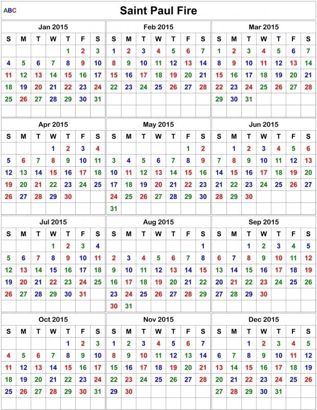 Printable Fire Shift Calendar :-Free Calendar Template  Fdny Shift Schedule
