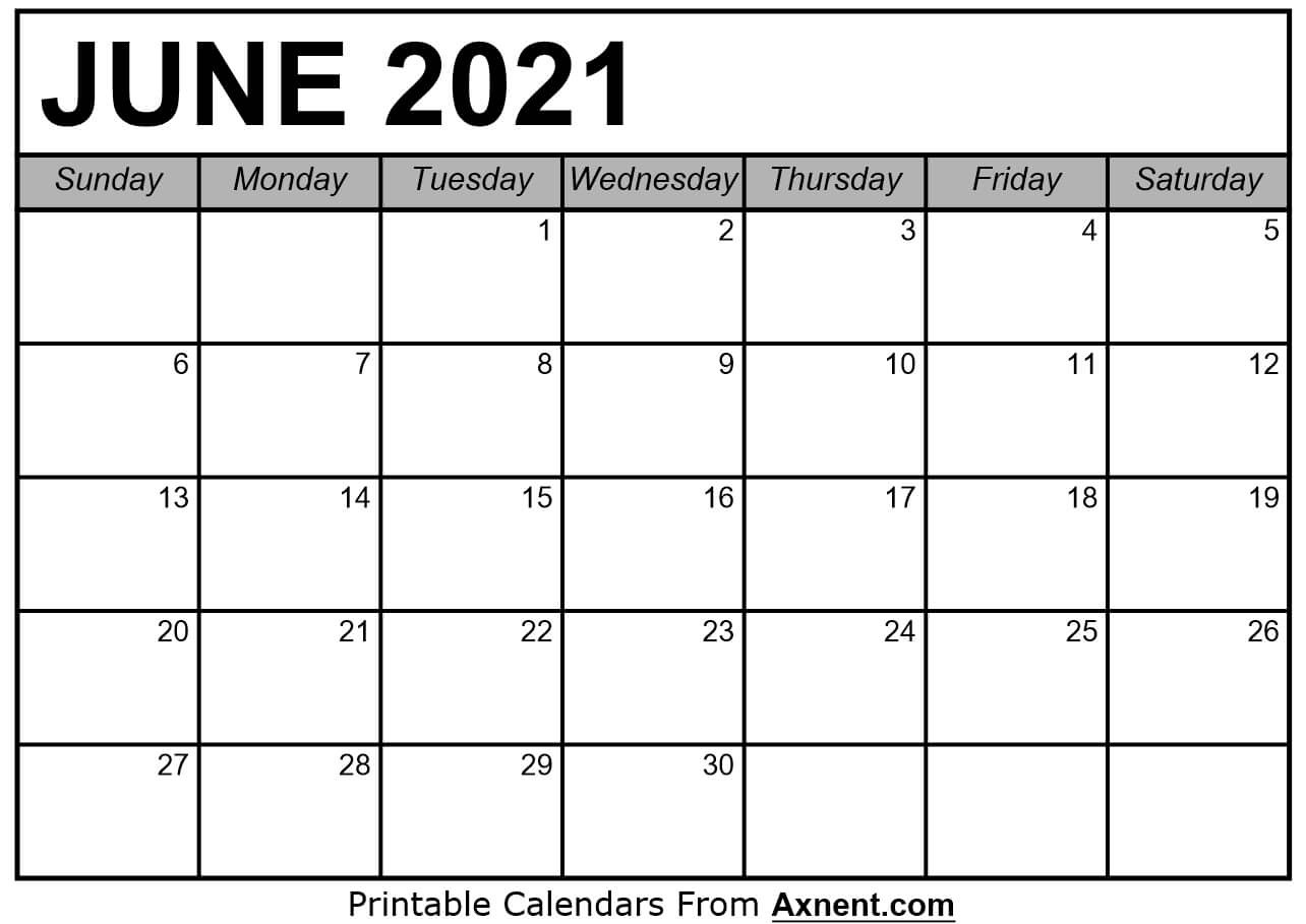 Printable June 2021 Calendar Template - Time Management  June 2021-June 2021 Calendar