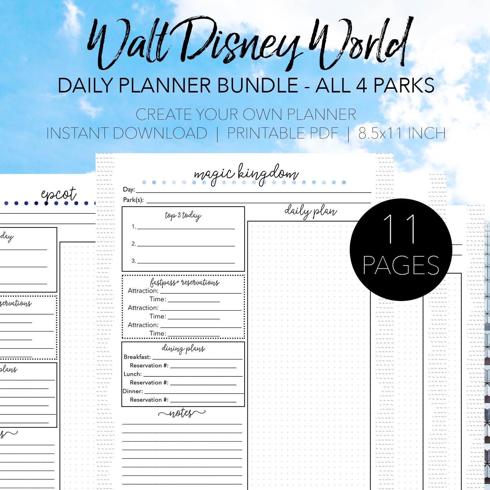Printable List Of Rides At Disney World 2020 Checklist  Printable List Of Disney World Rides 2021