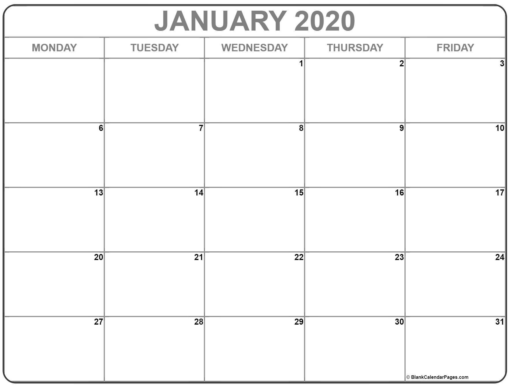 Printable Monday Thru Sunday Calendar For Word | Ten Free  Monday Through Sunday Calendar 2021