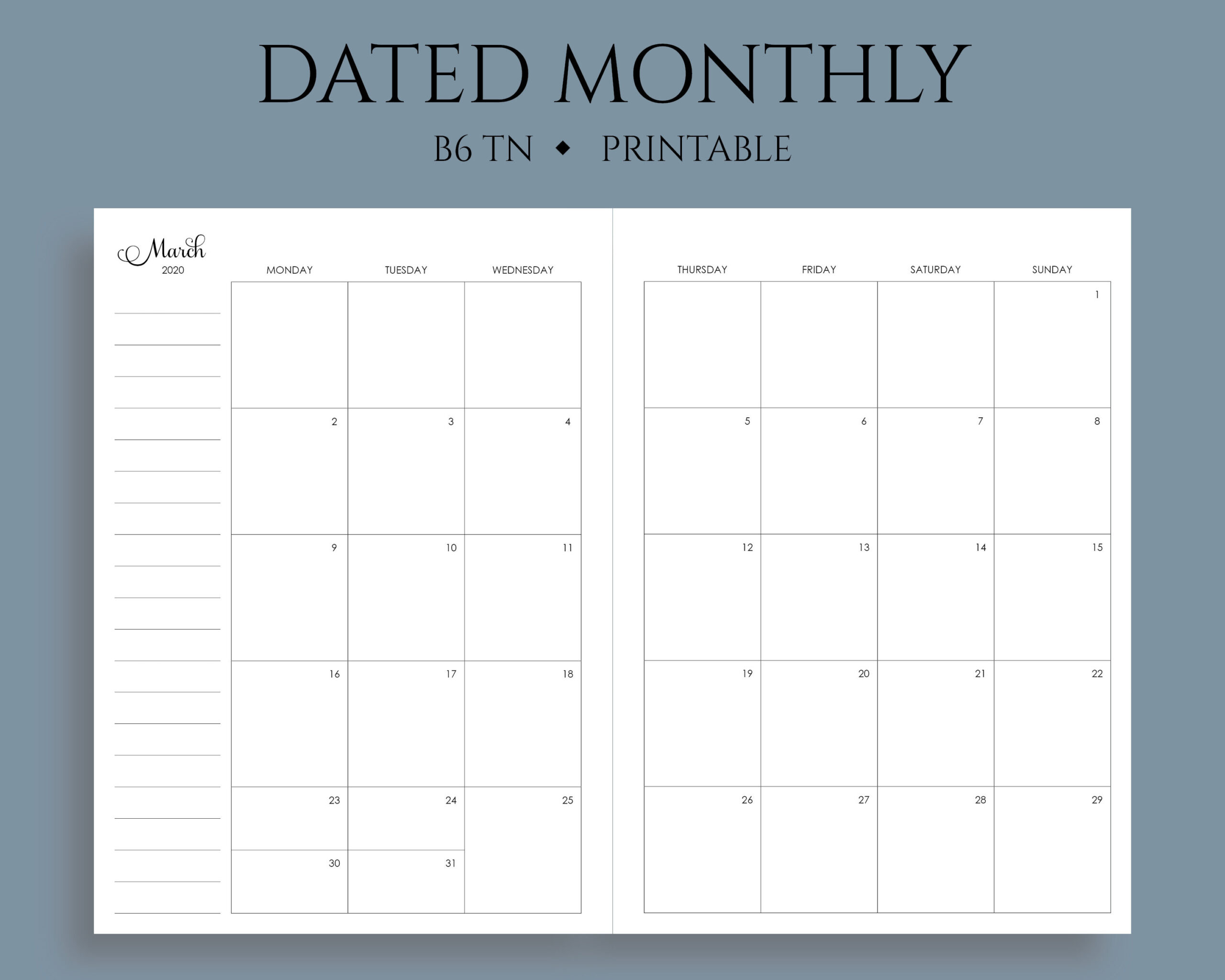 Printable Monthly Calendar Sunday To Saturday No Dates  Blank Monthly Calendar Printable Free Without Downloading
