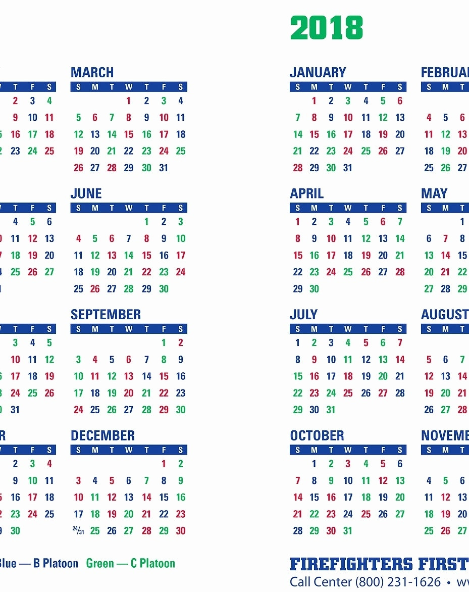 Printable Shift Calendars For Firefighters | Example  Fdny Shift Schedule