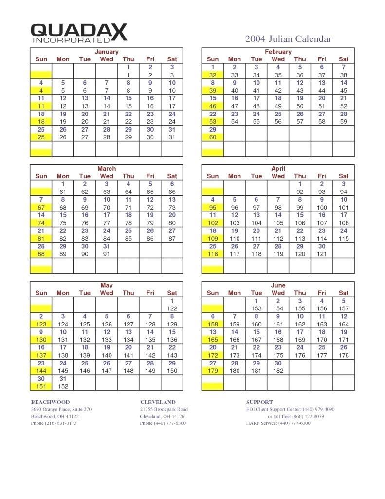 Quadax Julian Date Calendar 2021 - Calendar Template 2020  Julian Date Code For 2021