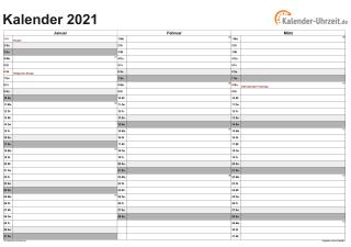 Schönherr Kalender 2021 Zum Ausdrucken Kostenlos  Jahreskalenderblatt 2021 Zum Ausdrucken