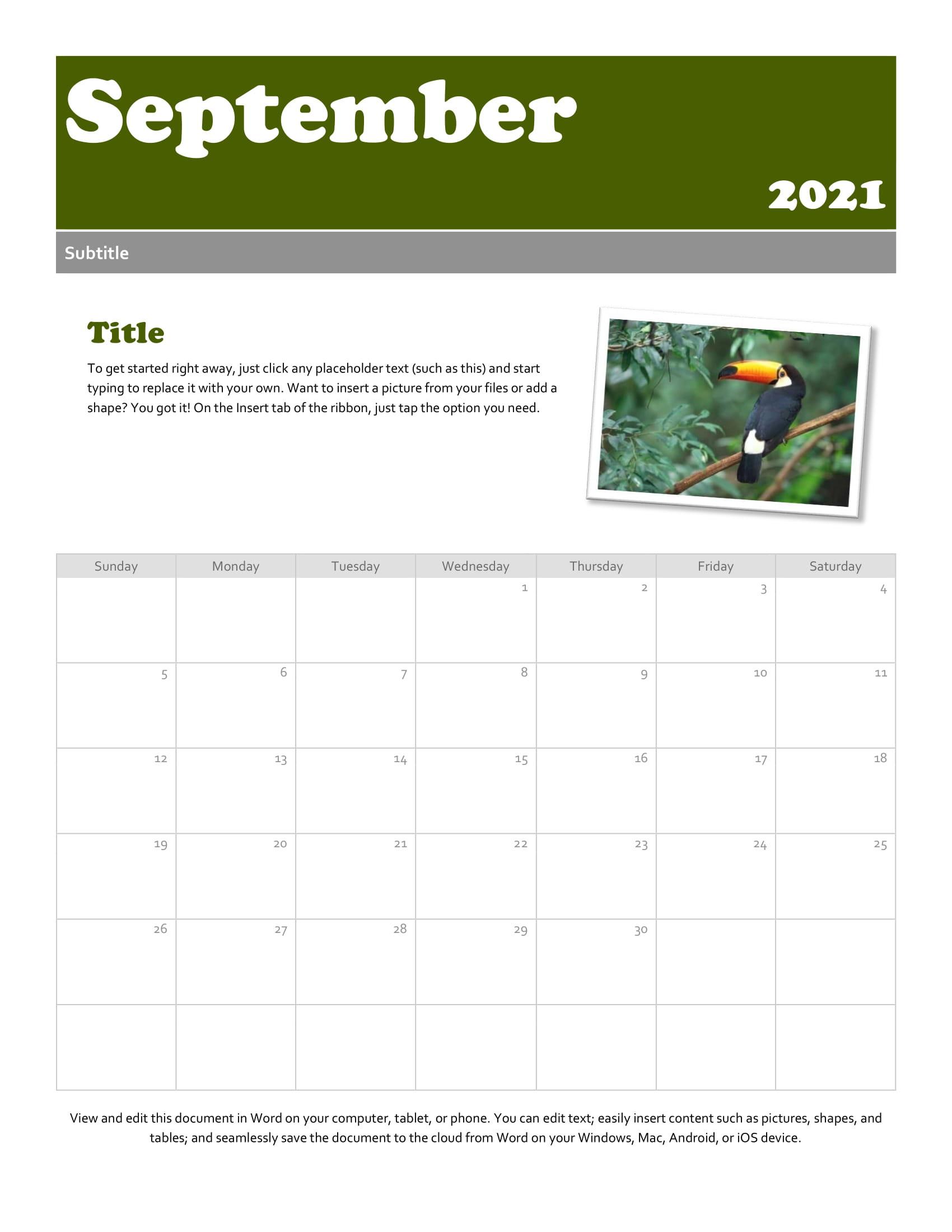September 2021 Calendar | Calendar Printables Free Blank  Nc Deer Rut 2021