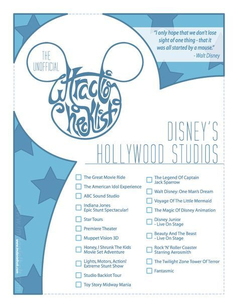 Series Of Posters Created For Myself And Fellow Members Of  Disney World Attractions List Pdf