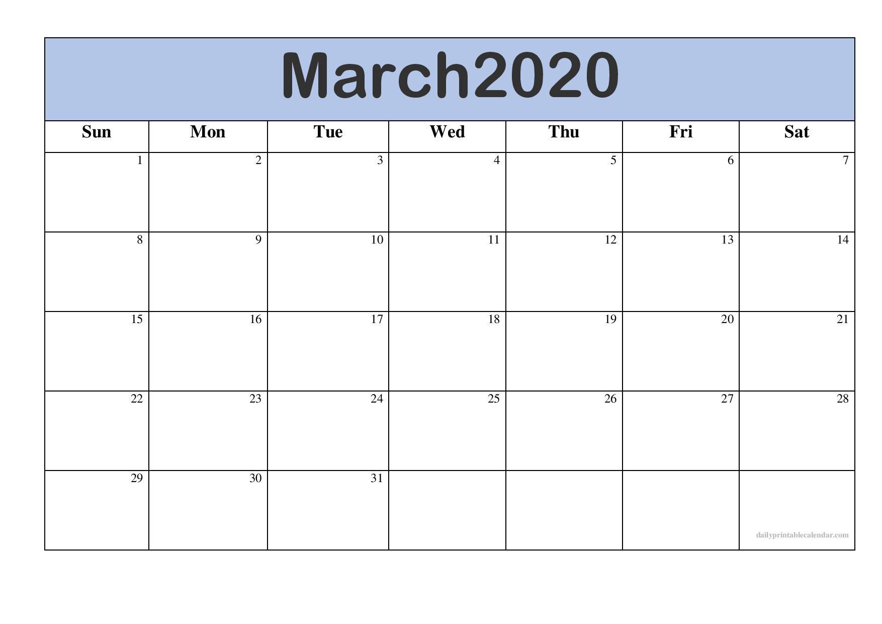 Take Free 2020 Monthly Calendar Printable | Calendar  Free Printable Blank Monthly Calendar Templates Editable