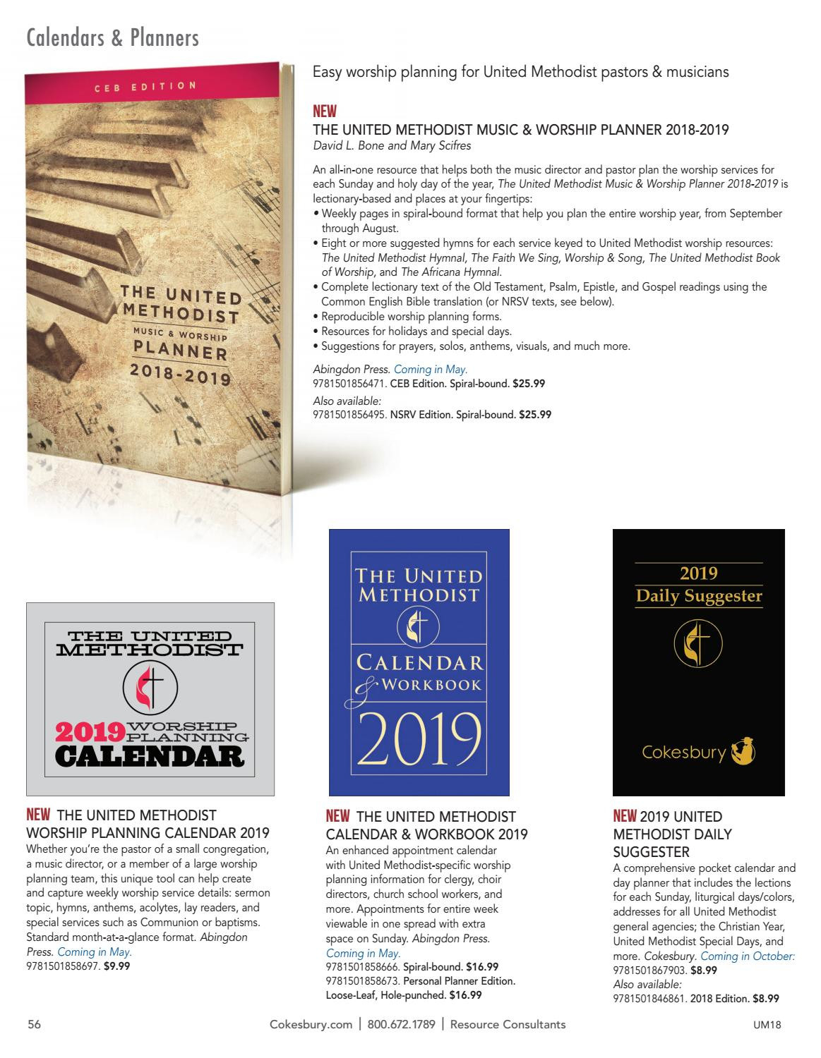 The United Methodist Church Resources For 2018United  Methodist Weekly Scriptures