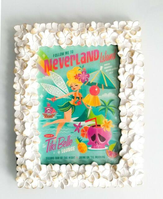 Tinkerbell Neverland Island Tiki Belle Lounge Framed Print  Walt Disney World Ride Checklist Printables 2021