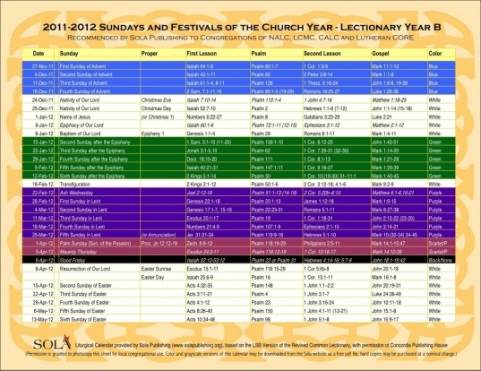 United Methodist Church Liturgical Colors | Printable  Methodist Lectionary For 2021