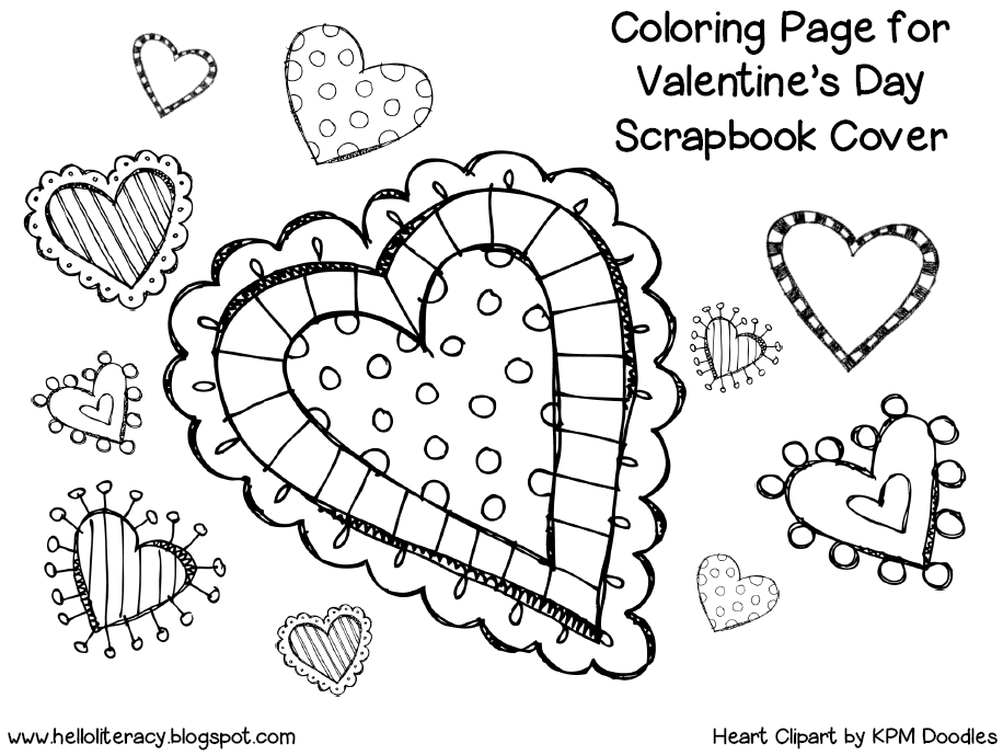 Valentine'S Day Scrapbook - Hello Literacy Blog  Colour Filling Page For Grade R