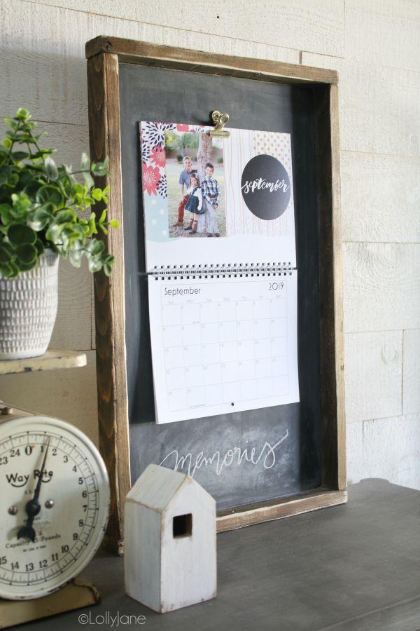 Wood Calendar Holder | Diy Calendar, Custom Photo Calendar  Calendar Frames And Holders