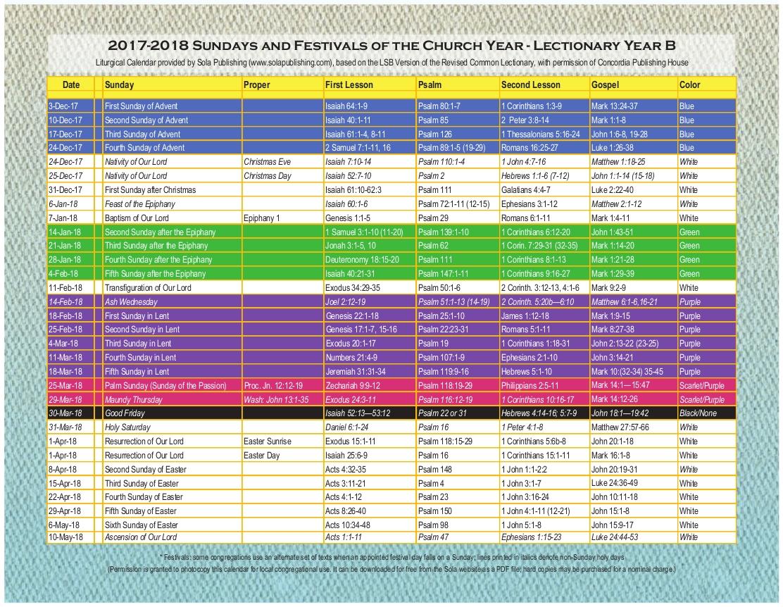 Year B Liturgical Calendar | Ten Free Printable Calendar  Liturgical Year Methodist 2021