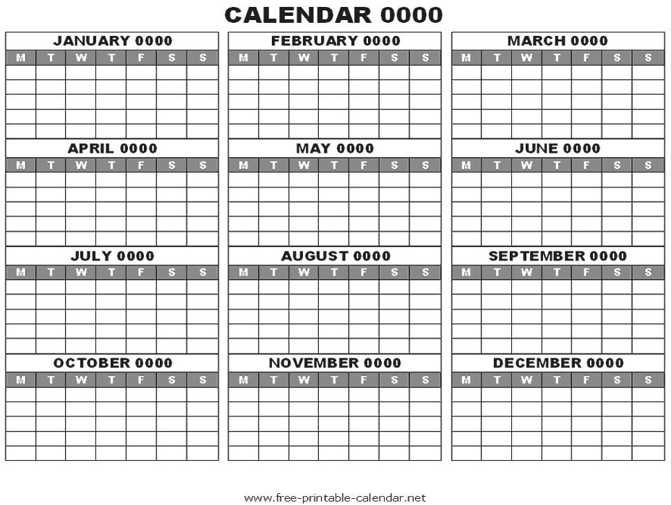 12 Months Calendars Printable Editable :-Free Calendar  Free Editable Calendar Templates Printable
