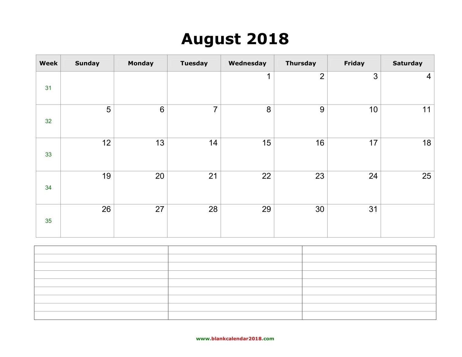 2019 Blank Calendar Template With Notes - Template  Wall Calendar Frame Plan - Item 49887 Clone