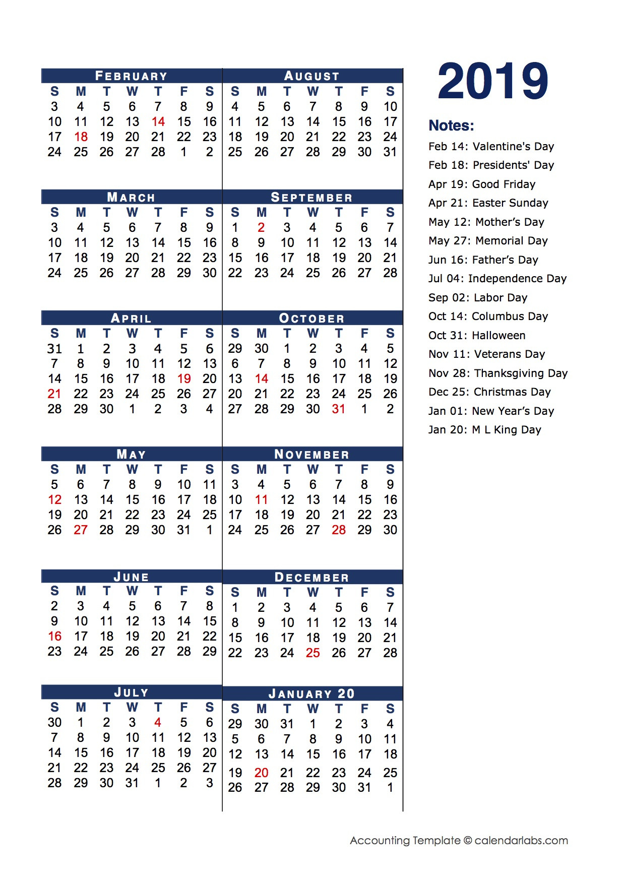 2019 Fiscal Period Calendar 4-4-5 - Free Printable Templates  Aus 2021-2021 Financial Year Period