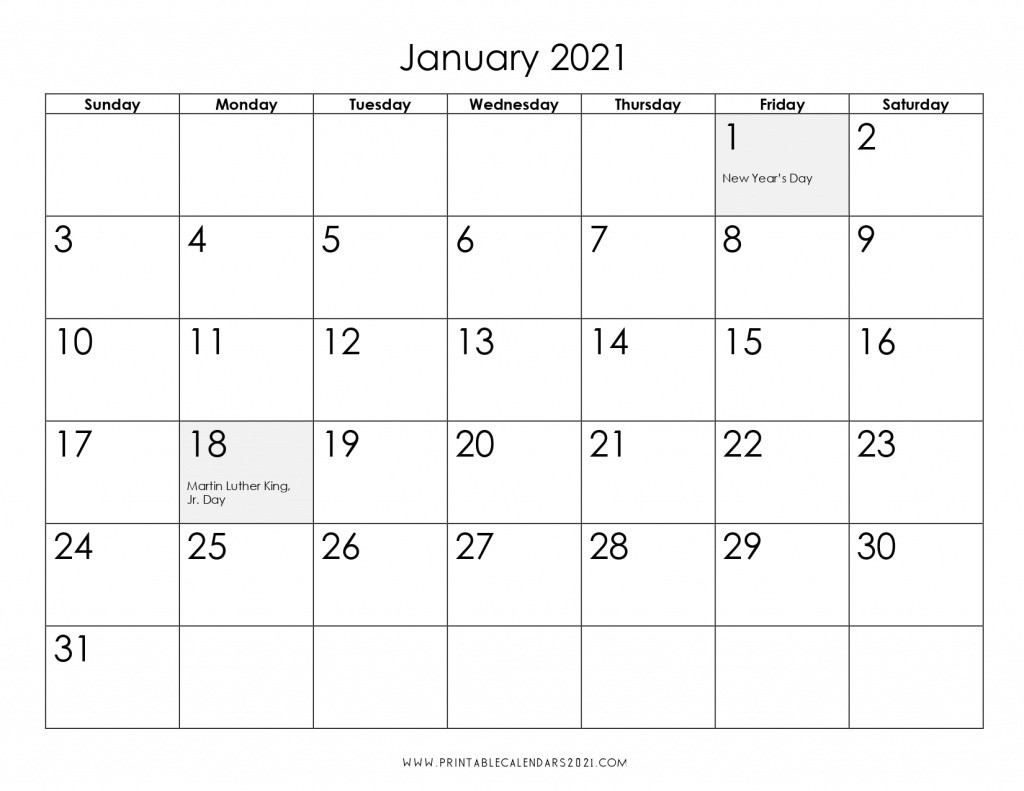 2021 Calendar One Month Per Page - Us Holidays 12 Month Pdf  2021 Printable 3 Monthly Per Page Calendar
