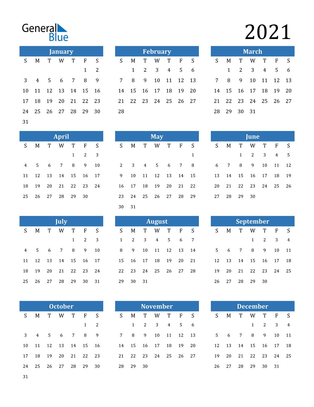 2021 Calendar (Pdf, Word, Excel)  Printable 2021 2021 Depo Calendar