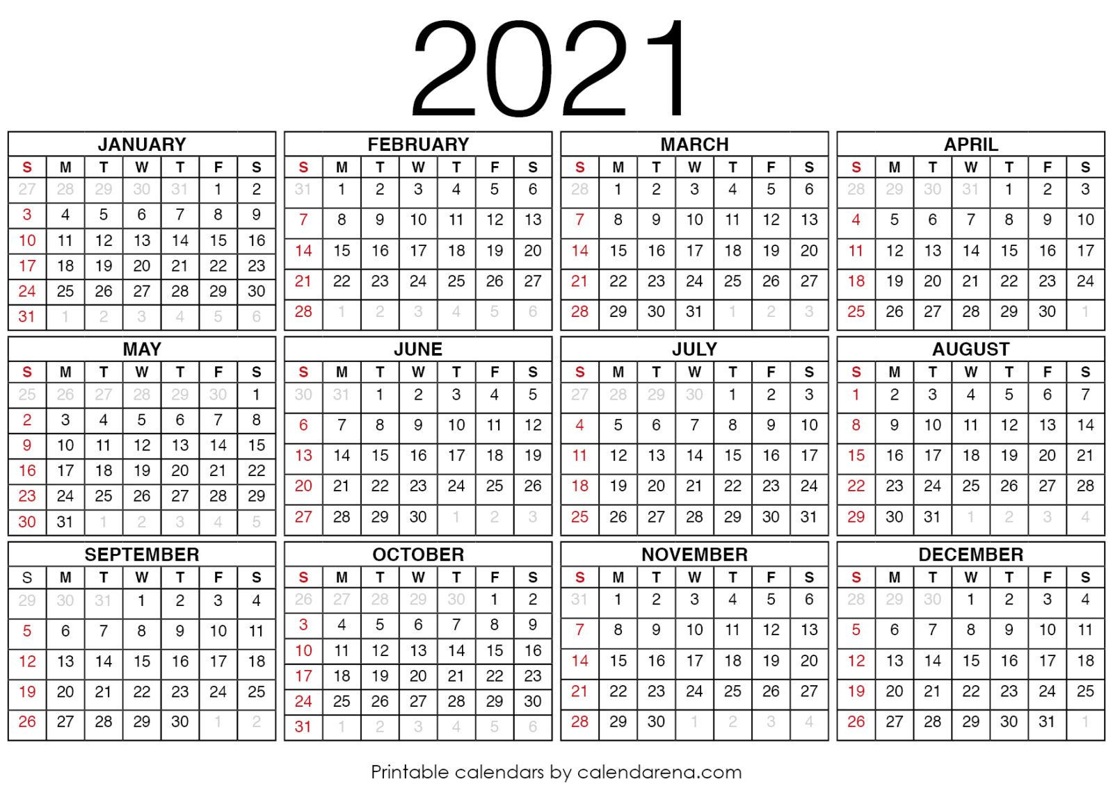 2021 Calendars : Blank Calendar Printable | Calendar  Printable 2021 2021 Depo Calendar