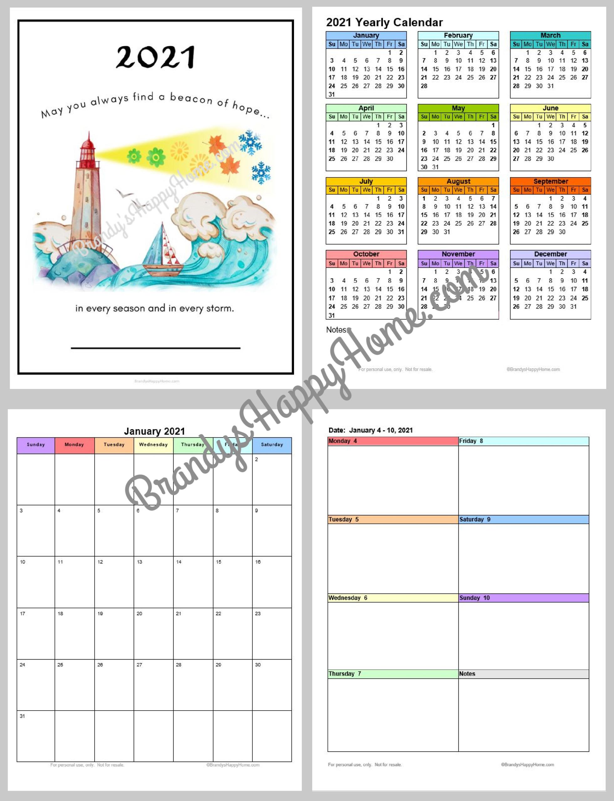 2021 Printable Pocket Calendar | Calendar Printables Free  Printable Pocket Calendar 2021