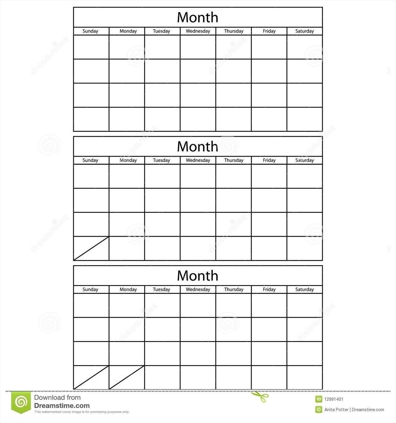 3-Month Calendar Template Word   Calendar Template 2021  3 Month Calendar Template