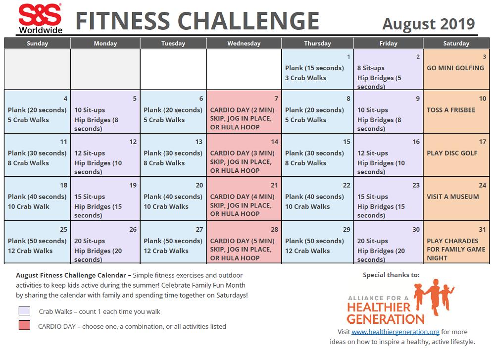 30 Day Fitness Calendar Printable - Printable Calendar  30 Day Fitness Calendar