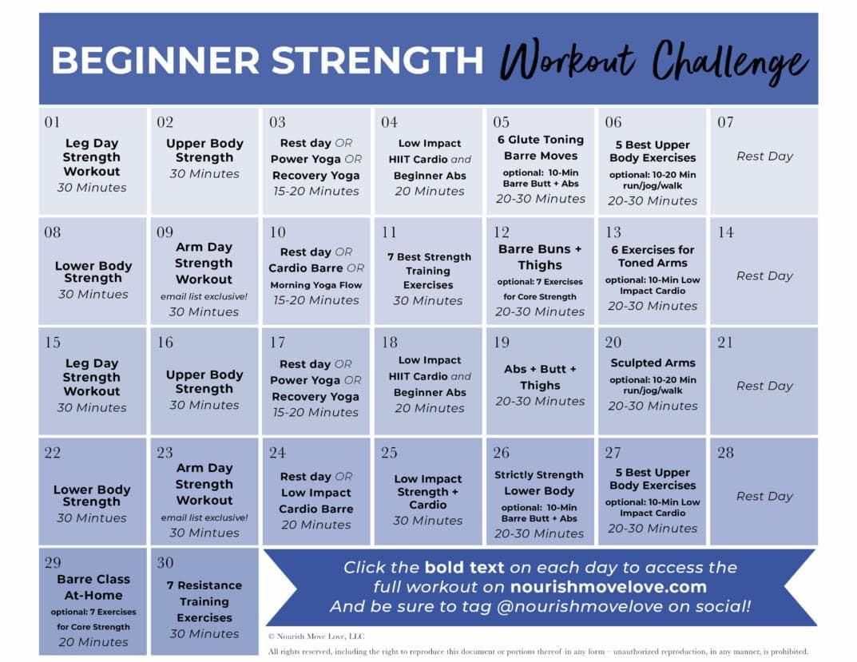 30 Days Fitness Calendar | Printable Calendar 2021-2022  30 Day Fitness Calendar