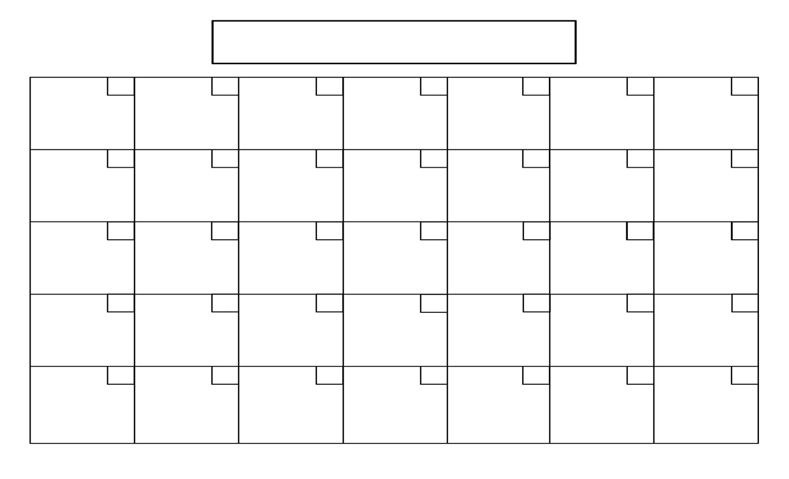 8X11 Printable Blank Calendar   Calendar Template 2020  Free Printable Blank Monthly Calendar Templates