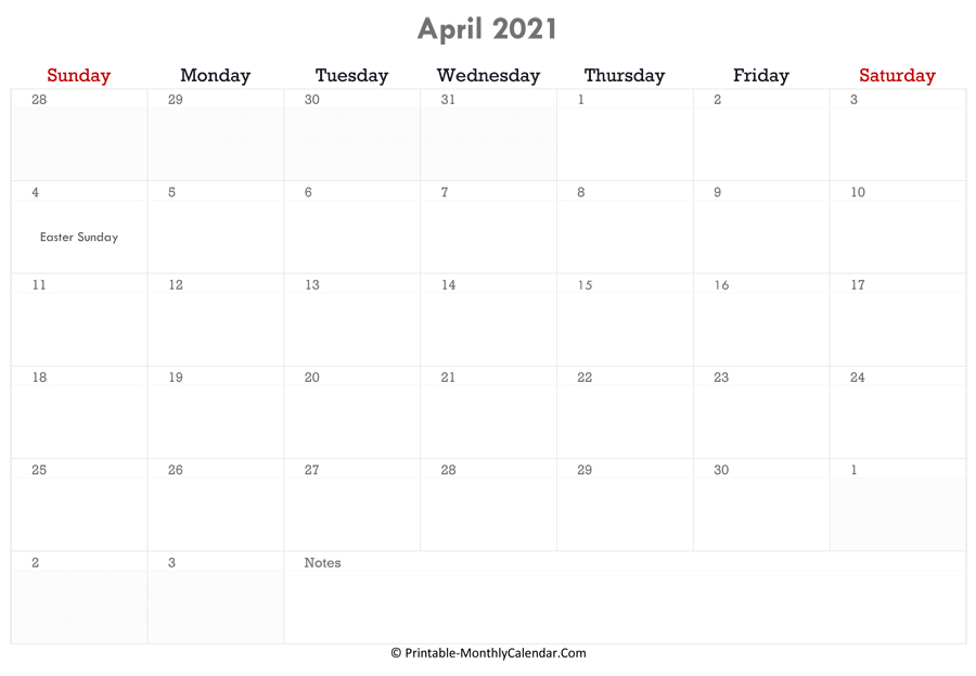 April 2021 Calendar Printable With Holidays  12 Month Financial Year Calendar 18 To 19