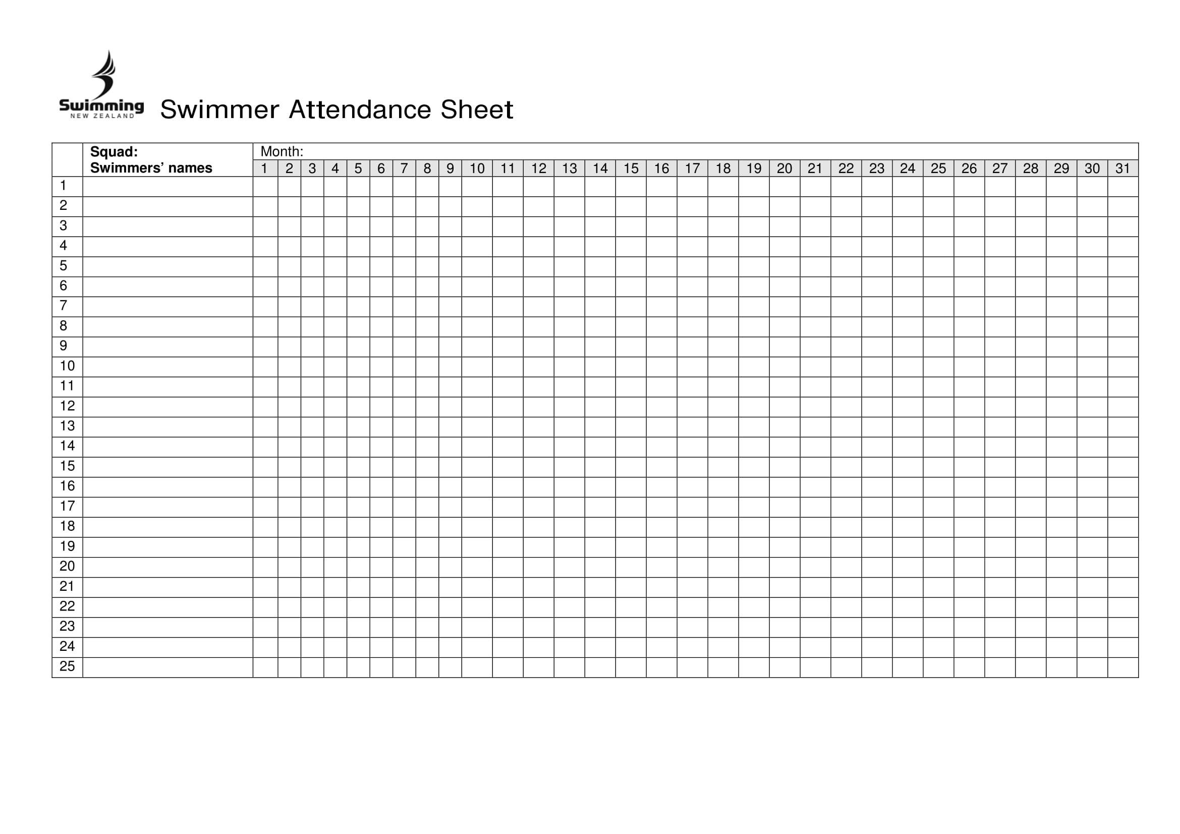 Attendance Sheets   Business Mentor  Attendance Log