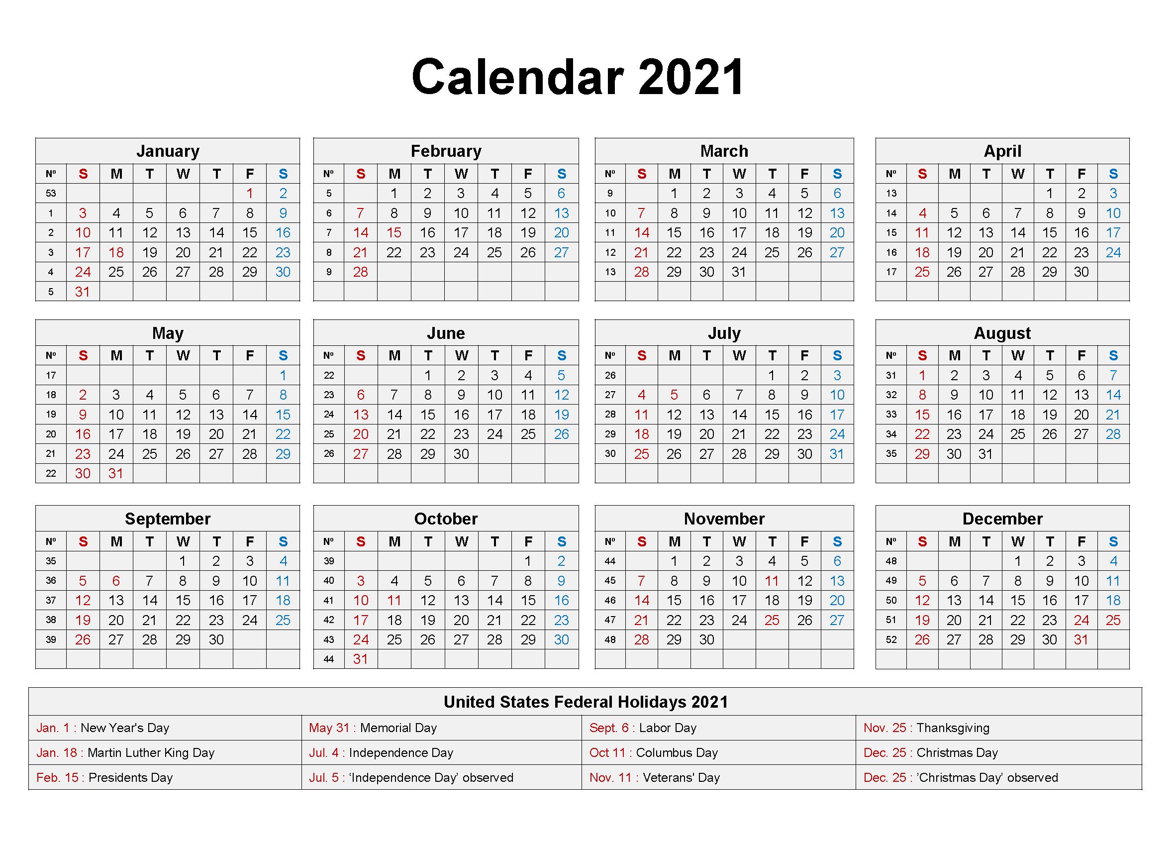 Blank 2021 Calendar Printable | Calendar 2021  Printable 2021 2021 Depo Calendar