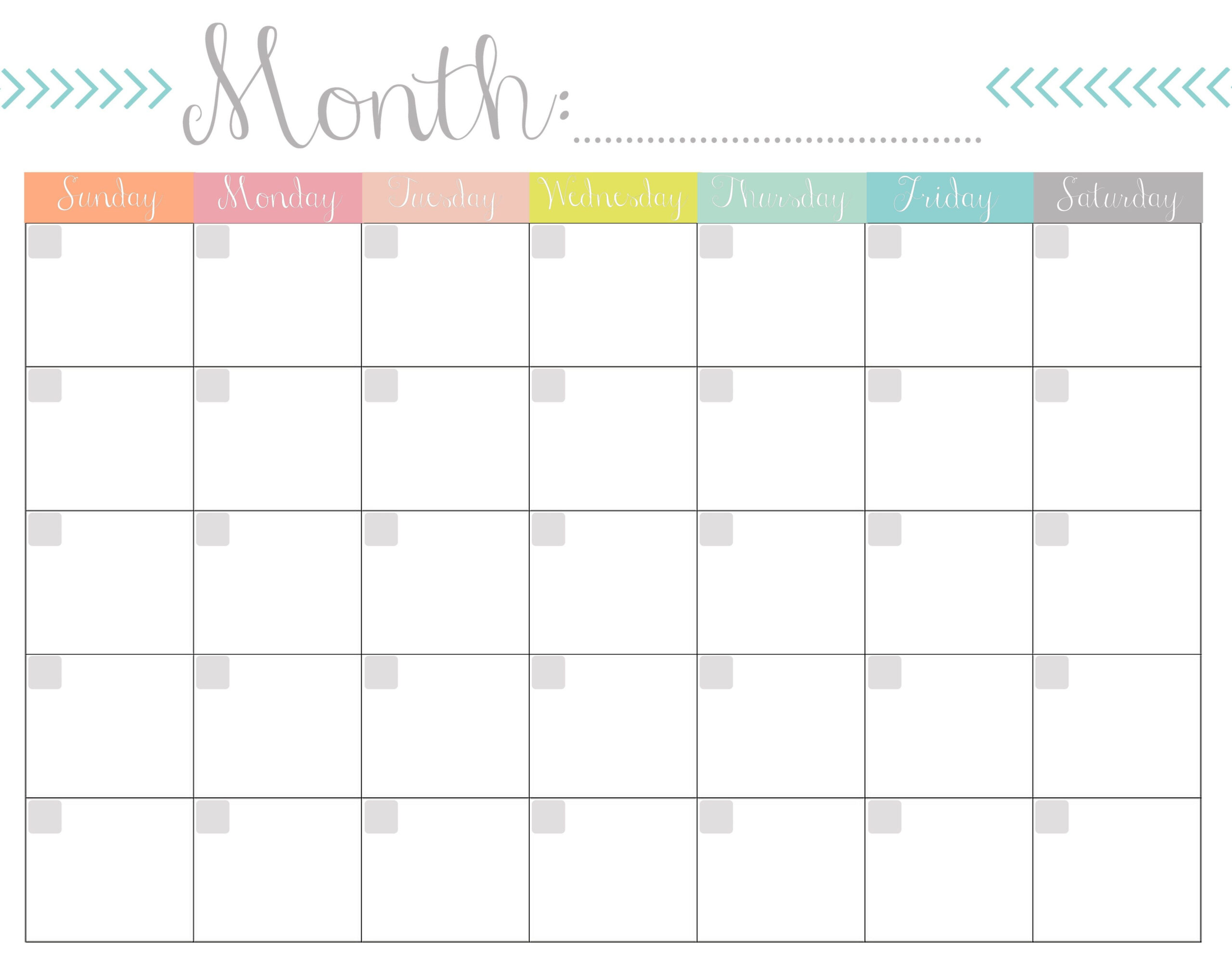 Blank Calendar 2020 Printable Monthly Payday Bills And Due  Free Printable And Editable Weekly Calendar