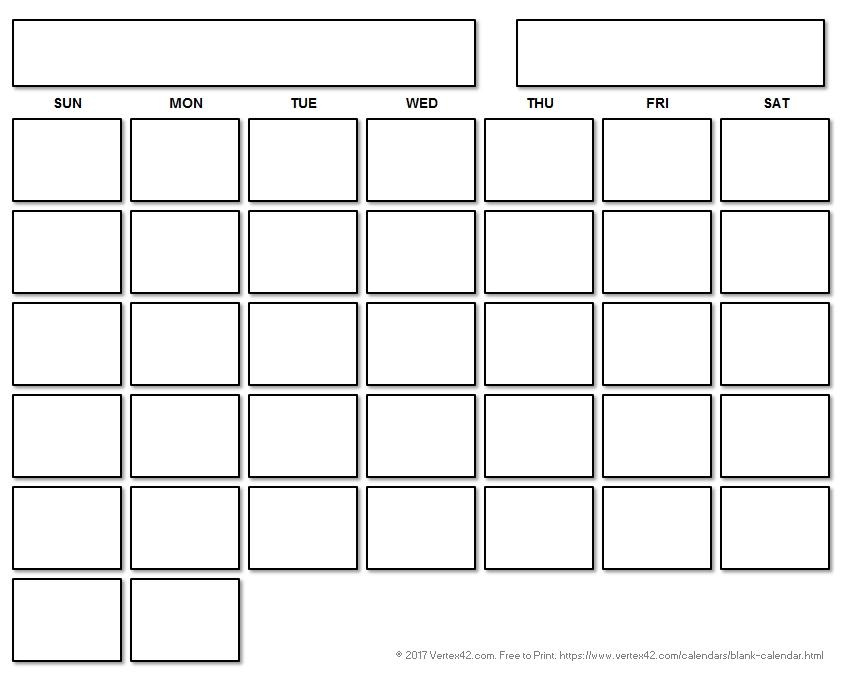 Blank Calendar Image   Calendar Template 2020  Free Printable Blank Monthly Calendar Templates