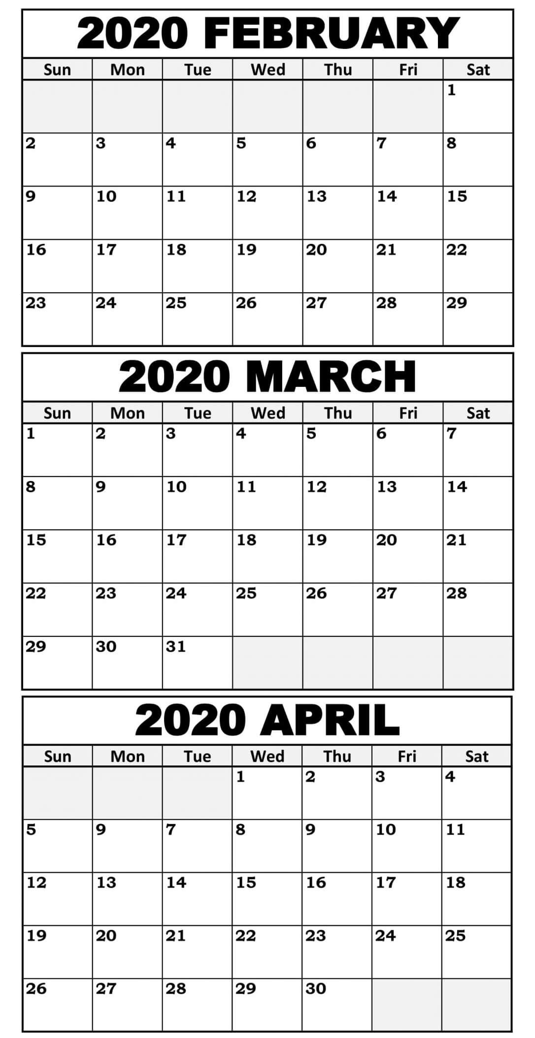 Calendar Template 3 Months Per Page Time And Date  2021 Printable 3 Monthly Per Page Calendar