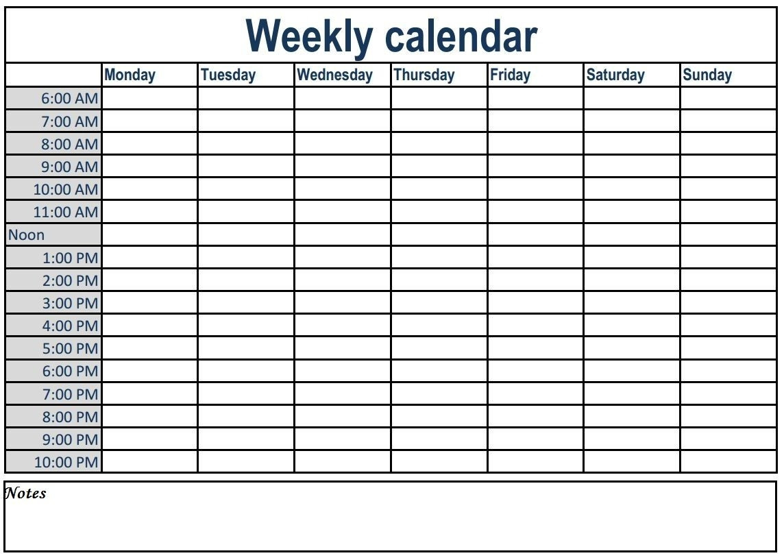 Calendar With Time Slots Printable | Month Calendar Printable  Calender Time Slot