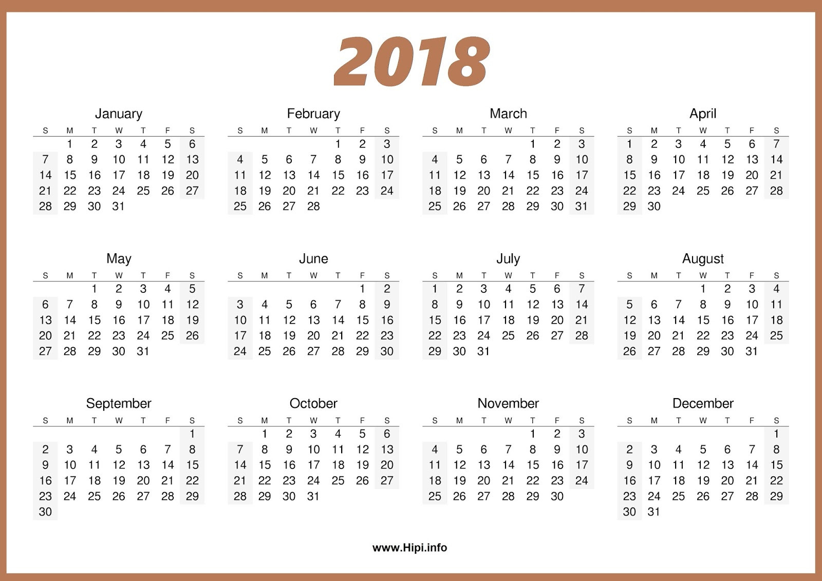 Calendars Printable / Twitter Headers / Facebook Covers  Free Printable One Month Calendar