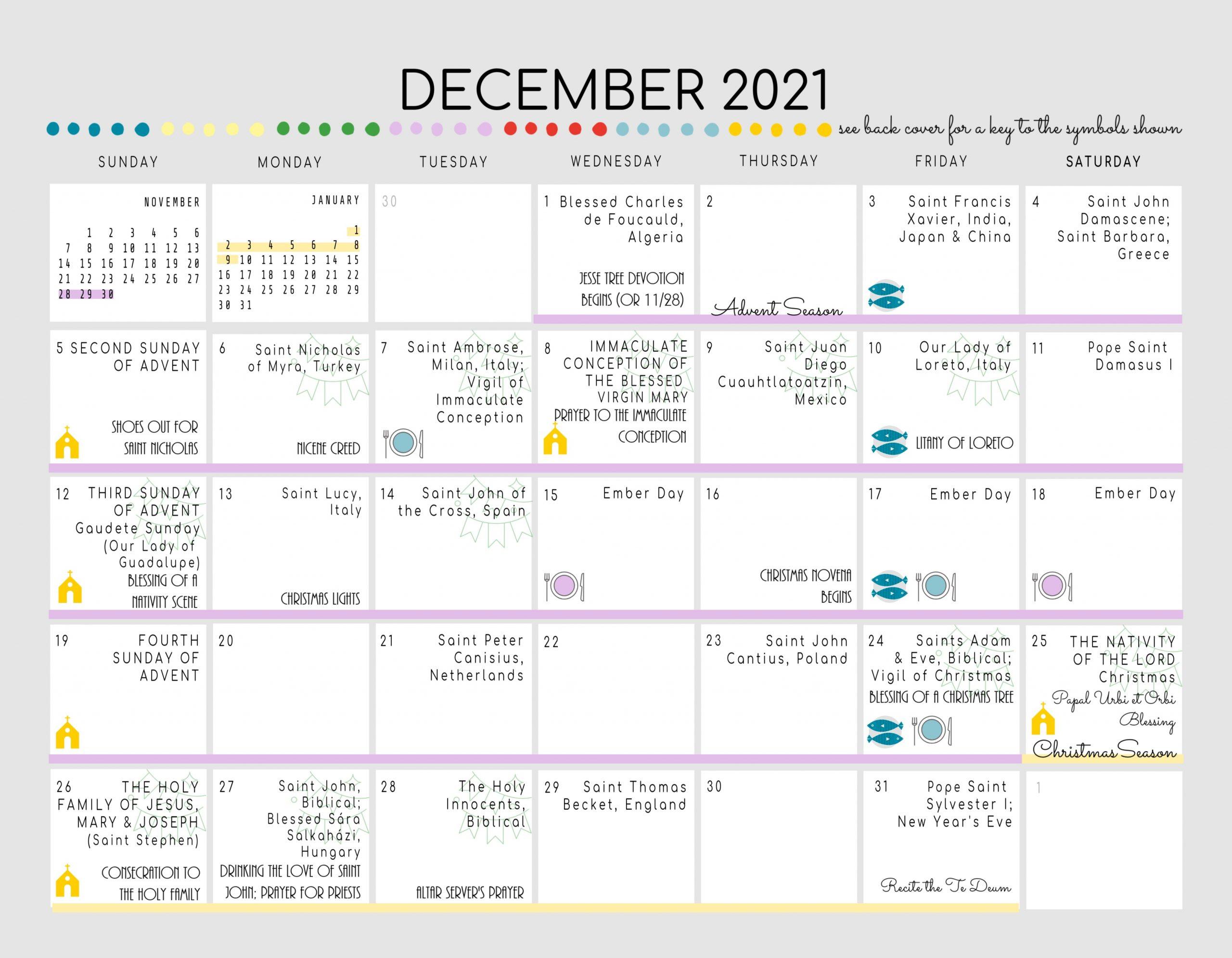 Catholic All Year 2021 Liturgical Calendar With Nrsvce  Liturgical Calendar Dates For 2021