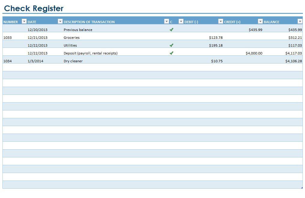 Checkbook Register | Checkbook Register Template  Small Printable Calendar Check Register