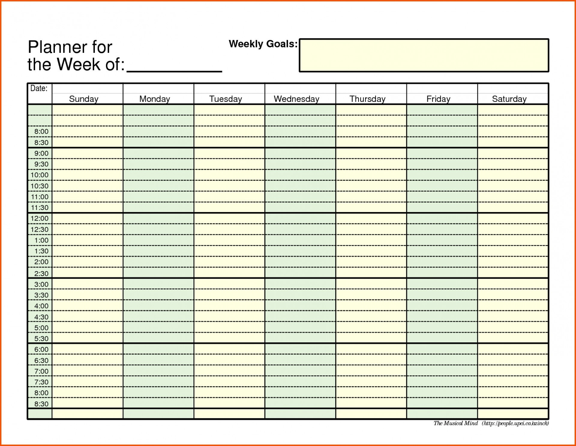 Daily Schedule With Time Slots - Calendar Inspiration Design  Calender Time Slot