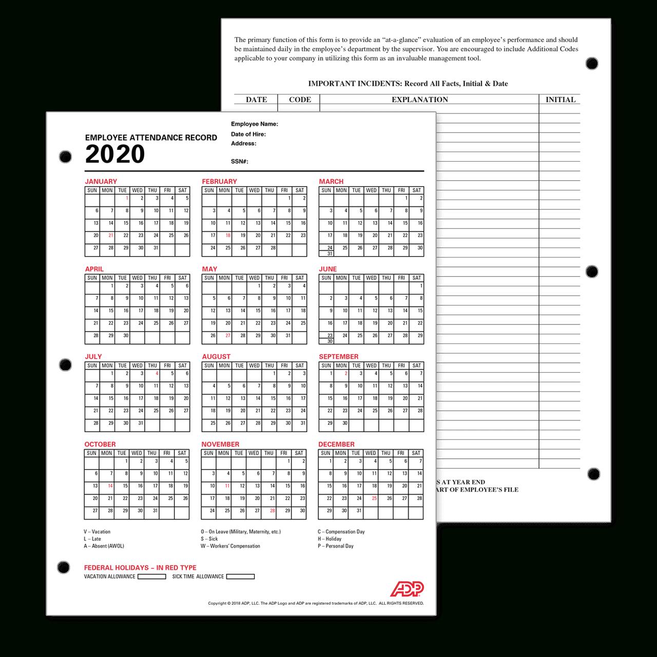 Downloadable 2021 Employee Vacation Schedule | Calendar  Employee Attendance  Calendar Free Printable 2021