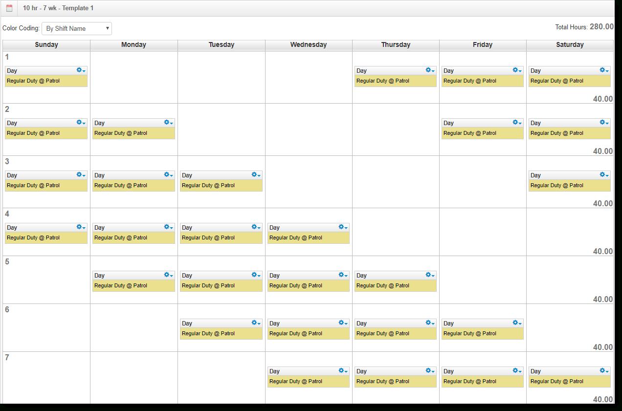 Dupont Shift Schedule For 2021 Calendar   Calendar  Color Shift Calendar